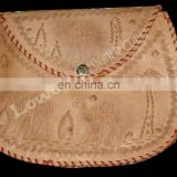 "WOMEN""S HANDMADE LEATHER CAMEL EMBOSSED CROSS BODY PURSE CLUTCH"