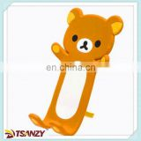 Funny PVC cartoon bear flexible bendable phone holder