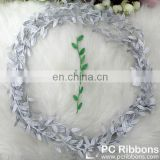 Hot sale embossed leaf ribbon for decoration