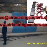 Air bearings casters manual pictures