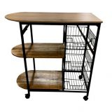kitchen shelf metal 3tier storage racks  Storage carts