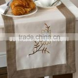 hand embroidered table runner heat-resistant table runner dining table runner