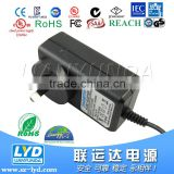 Smart Burglar Alarm 9V 2A Adapter for Alarm Power Supply with UL SAA PSE CE CUL approval in alarm charger