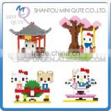 Mini Qute LNO kawaii 4 style LNO hello kitty plastic puzzle cartoon model children gift educational toy