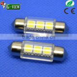 Super quality led car interior light festoon 3smd led 36mm 5050 waterproof led tube light