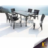 Top Sale outdoor garden set dining set wholesale rattan wicker furniture