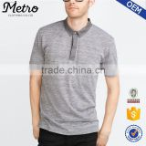 2016 New Design Mens Plain Grey Polo Shirts Customized Logo
