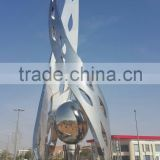High quality outdoor garden sculpture supplier mirror polish finish could be customized stainless steel sculpture