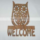 2015 Hot Metal Crafts Hanging Decoration Handmade Art Home Decor wrought iro OWL