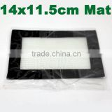 Small 11.5x14cm custom dab wax silicone mat clear silicone mat non-stick silicone slick mat for oil