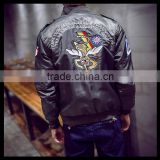 2016 Fashion Large Size Srping MA1 Air Force Pilot Coat Bomber Jacket with Retro Embroidery
