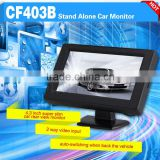 car 4.3 inch super tft lcd color tv small size lcd monitor with 2 channel input