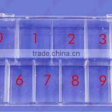 12 Cell Empty Storage Box Case False Nail Art Set Tips # 5719