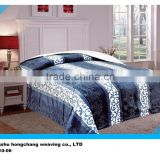 2015 New design 6 colors embossed 100% polyester flannel blanket check high weight and quality