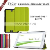 Tablet leather case mininalist style with vertical stand tab case for acer Lconia one 7 B1-770