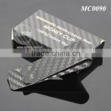 Box Packing High-grade Aristocratic Family 100% Real Matt Color Carbon Fiber Money Clip Wallet