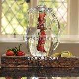 2L Plastic Fruit Infusion Pitcher Infuser Pitcher