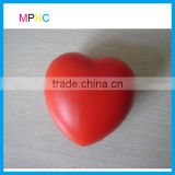 Red Love Heart Shaped PU Foam Antistress Ball Squeeze Toy Stress Reliever ball