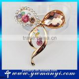 Bow broches crystal brooches for dresses scarf pin pearl brooch for wedding decorations B0011