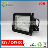 10w 20w 30w 50w 100w black housing 12volt low voltage ip65 led flood lamp, led outdoor flood light 12v