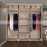 DIY Furniture Portable Folding Fabric Cloth Steel Frame Wardrobe Closet Home Clothes Storage Cabinet OS003666