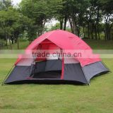 210D grey Double layer 3-4 person backpacker tent outdoor camping hiking tent