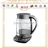 1.7L Unique Hotel Electric Glass Kettle with tray set