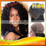 Brazilian 100% Remy Virgin Human Hair #1B Afro Kinky Curly Full Lace Wigs With Glueless Lace Front Wigs In Stock