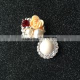 Pearl Rhinestone Shank Button For Garment Suit