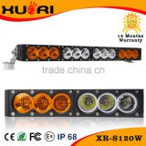 "auto spare parts 12 volt led lights 120w 44""singel row spot flood combo 4x4 offroad led light bar yellow and white"