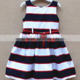 wholesale children's dress clothing latest designs girls dress childrens blouse kids stripe dress