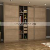 Factory made acrylic bedroom wardrobe double sliding door fittings designs india