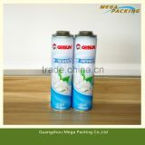 Top aerosol use aerosol deodarant bottle air freshener can/aerosol deodorant cans with CMYK