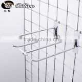High Quality wholesale supermarket or Jewelry Store double Wire Metal Chrome Bracket Net Display Hook