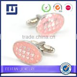 Factory custom pink cufflinks high quality and cheap