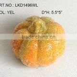 "2013 New Artificial Fake Fruits Christmas 5.5*5"" Artificial Sugar Pumpkin With Glitter Christmas Tree Decoration"