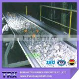 Heat resistant conveyor belt good for iron ore, pellets, casting sand, coke and limestone
