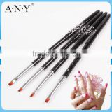 ANY UV Gel Nails Building One Stroke Painting Synthetic Gel Brushes for Nail Art