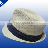 Mens high quality fedora hats with black ribbon