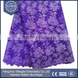 2016 beautiful purple beaded fabrics dubai wholesale french fabric bridal african clothes embroidery tulle net lace
