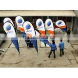 Haining High Quality and Good Outdoor Durability Textile Polyester Olympic Flags and Banners