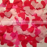 Pink and Red heart shape Tissue Paper Confetti for wedding reception                                                                         Quality Choice