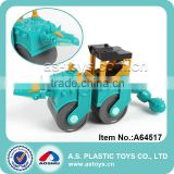 Newest 4 models plastic dinosaur style road roller toy electric mini excavator