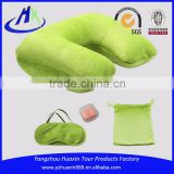 Fashion Travel Sleeping Kit, Relaxing Set, Neck Pillow, Eye Cover and Ear Plugs in Pouch Packaging
