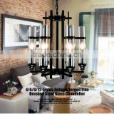 Replica Contemporary Creative Metal Candle holder Black LED Indoor Glass Suspension Chandelier