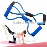 8 Shaped Training Resistance Bands Rope Tube Workout Exercise for Yoga Fashion Body Fitness Equipment Tool