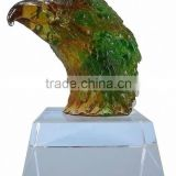 BS192 colored crystal craft of eagle trophy