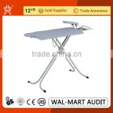 GJ-1Household Essentials T-leg Collapsible Ironing Table with Metal Iron Rest with 100% cotton cover