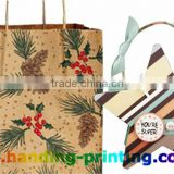 Custom Black Wax Gift Paper Bags-Dot Printing Factory