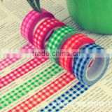 Wholesale YIWU FACTORY 1.5cm x 10m gingham Washi Tape Paper Washi Tape Masking Tape Adhesive Roll Decorative Scrapbooking